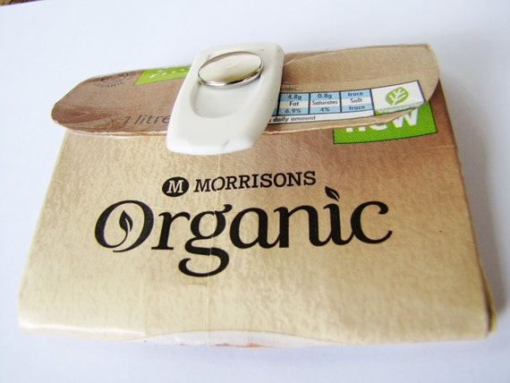 Organic Soya Milk Carton Purse / Wallet