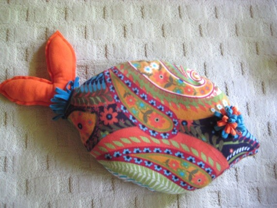 Items similar to cat bed dog bed fish shaped pillow for Fish shaped pillow
