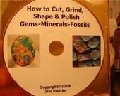 How To Cut Grind Shape Polish Gems Minerals Fossils  cd rom  Tutorial