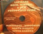 Minnesota Wisconsin North  South Dakota Lapidary Rock Mineral Gem Field Guide