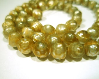 Fresh Water Cultured Pearls - Faceted Champagne
