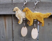 Golden Retriever dog crate tag or hang anywhere, kennel art accessory, Choose your color, Magnet option