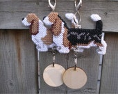 Basset Hound - dog art home decor ornament hang anywhere crate tag, Magnet option, Choose your color