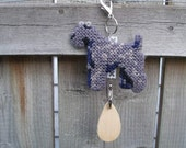 Kerry Blue Terrier crate tag dog art accessory hang anywhere handmade needlepoint, Magnet option