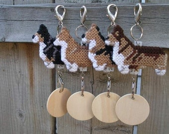 Pembroke Welsh Corgi decor display hang anywhere crate tag handmade by dog artist, Choose from multiple colors, Magnet Option