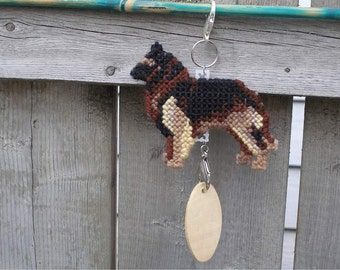 Belgian Tervuren dog crate tag - hang anywhere, Magnet Option, accessory hanger hand stitched original art by canine artisan