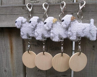 Sealyham Terrier crate tag hang anywhere decorative display, Choose your color, Magnet option