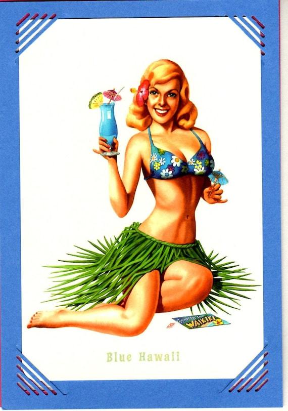 Vintage hawaiian pinup girls