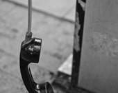Worcester, MA - Phone booth on Main street - photograph - matted and mounted