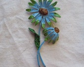 Vintage Flower Brooch for Arts and Crafts Project