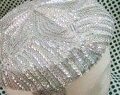 light blue sequin 60s hat