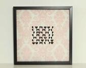 Baroque Velvet Damask Personalized Heart Art