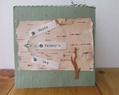 Handmade Fathers Day Card  - Handmade Paper Card - 100% Recycled Paper Card - Eco Friendly Card -