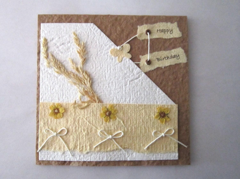 Carte d 39 anniversaire carte en papier fait main carte - Carte anniversaire fait main ...