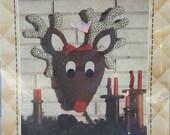 Vintage Reindeer Stuffed Head Pattern