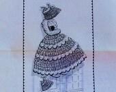 Vintage Crochet Sunbonnet Girl Potholder Pattern Design 7492