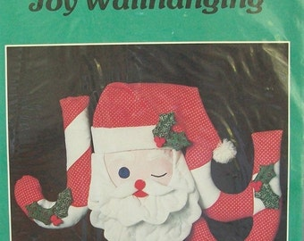 "Christmas "" JOY "" Santa Wallhanging"