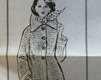 Vintage Crochet Classic Coat pattern Design 7481