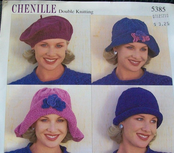 VINTAGE KNITTED HAT PATTERNS BY SIRDAR - NUMBER 5385