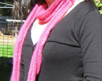 Funky Hot Pink  Lacey Skinny Scarf / Super Gift/ Colour me Pink