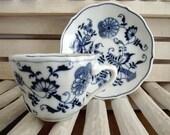 Vintage-Blue Danube Tea Cup and Saucer Set