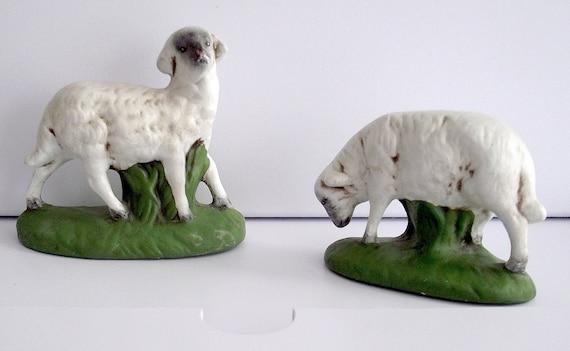 Hand Made - Ceramic- Pastoral Sheep Figurines-Signed