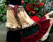 skirt, gypsy skirt,gypsy,bohemian, belly dance, fashion, women, layers and frills, vampire, velvet, steampunk, victorian