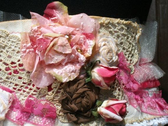 sash, marie antoinette, shabby chic,bridal sash, lace sash, victorian sash, lolita, accessoires, women,pink velvet,flowers,jane austen