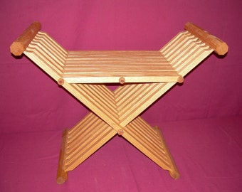 Folding Medieval X-Stool with Arms