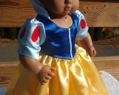 Snow White dress for Bitty Baby Doll