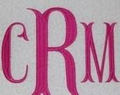 Fishtail Embroidery Machine Monogram  Alphabet  Font Set 10223 Instant Download Includes the BX format