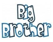 Big Brother 2 Color Embroidery Machine Applique Design 10491