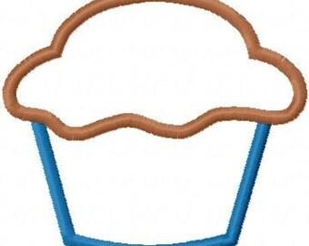 Simple Cup Cake Embroidery Machine Applique Design 10261