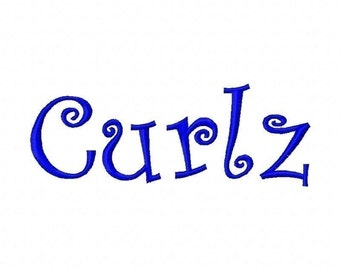 Curlz Embroidery Machine Alphabets Fonts and Monogram Sets 10166 Includes 13 Sizes