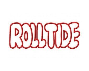 Roll Tide Embroidery Machine Applique Design 10303