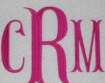 Fishtail Embroidery Machine Monogram  Alphabet  Font Set 10223 Instant Download (Includes BX Format)