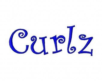 Curlz Embroidery Machine Alphabets Fonts and Monogram Sets 10166