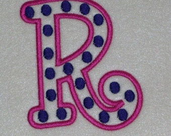 Boyz R Gross Polka Dots Embroidery Machine Alphabets Fonts and Monogram Sets 10233