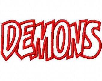 Demons Embroidery Machine Applique Design 10418