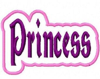 Princess Embroidery Machine Applique Design 10419