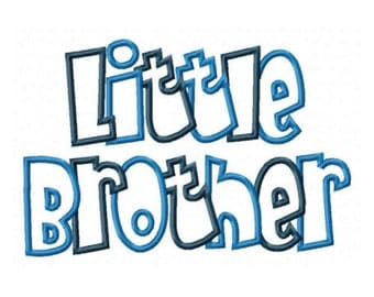 Little Brother Embroidery Machine Applique Design 10480