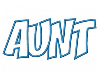 Aunt Embroidery Machine Applique Design 10494