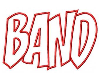 Band Embroidery Machine Applique Design 10495