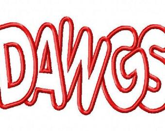 Dawgs Embroidery Machine Applique Design 15071