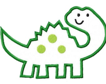 Dinosaur Embroidery Machine Applique Design 15057 INSTANT DOWNLOAD