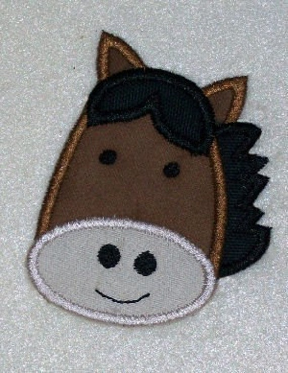 Horse Embroidery Machine Applique Design 10372