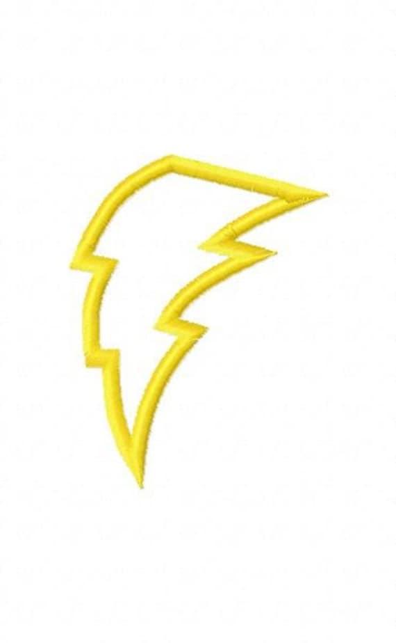Lightning Bolt Applique design   Lightning Bolt Design