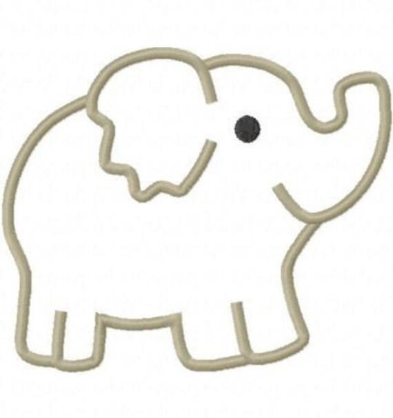 Elephant Embroidery Machine Applique Design 10311