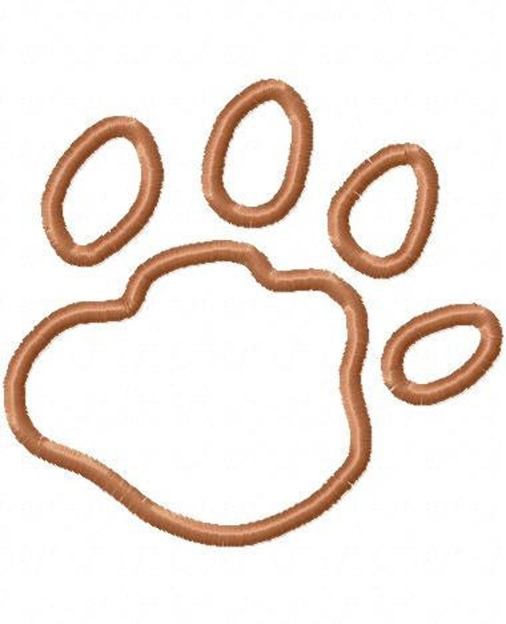 Cougar Paw Print Embroidery Design