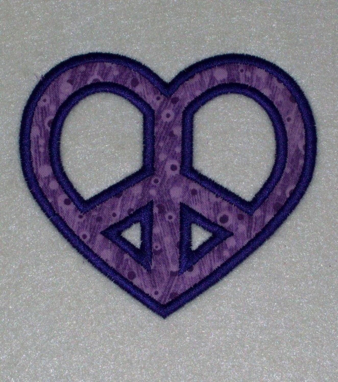 Colorful Heart Peace Sign Hearts Symbols Tattoo